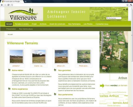 Villeneuve Terrains
