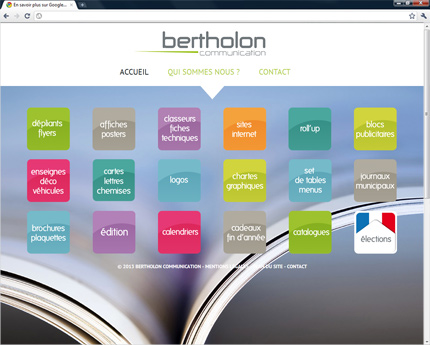 Site de Bertholon Communication