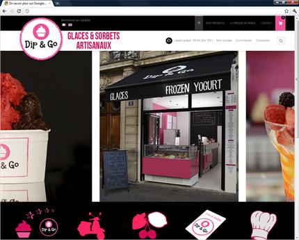 Boutique de fabrication et de vente de glaces et sorbets artisanaux sur la région Parisienne