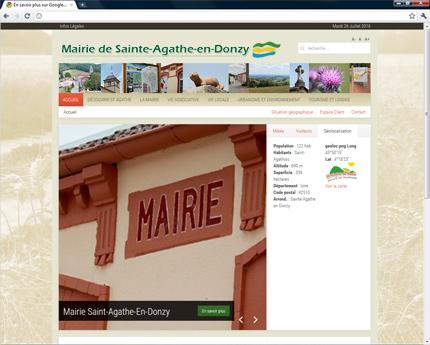 Mairie de Sainte Agathe en Donzy